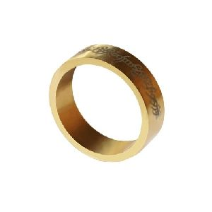 Magnetic ring - Gold - Letters - Medium (19 mm)